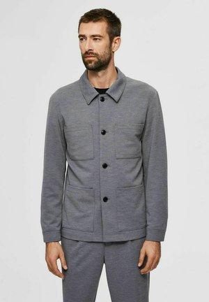 Blazer jacket - light grey melange