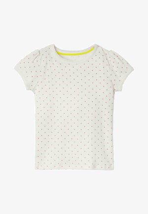 Print T-shirt - naturweiß/hellrosa, pünktchen