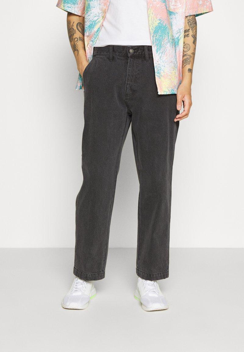 Obey Clothing - HARD WORK CARPENTER - Straight leg -farkut - dusty black