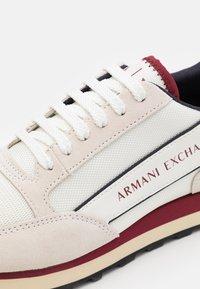 Armani Exchange - OSAKA  - Trainers - beige/red - 5