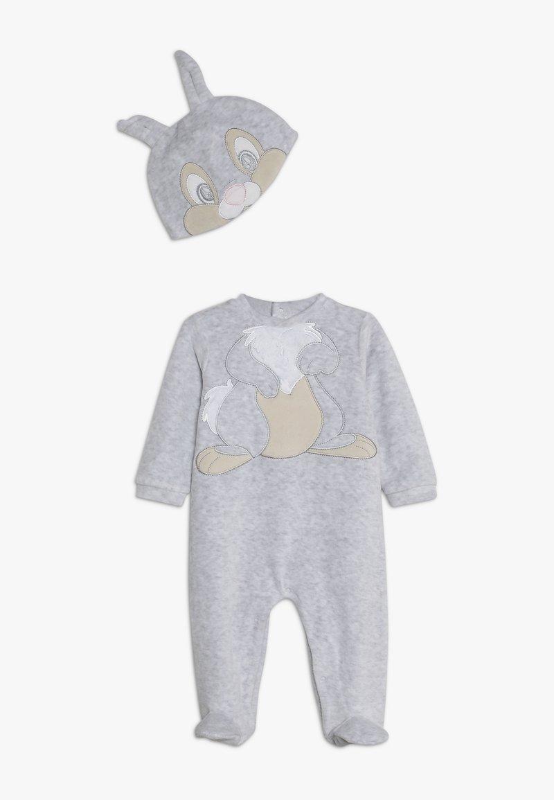 OVS - BABY SET ROMPER HAT - Sleep suit - glacier gray