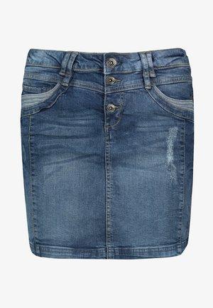 MINIROCK - Denim skirt - middle-blue