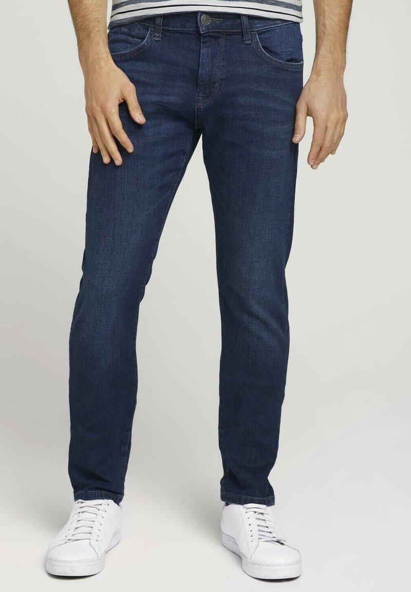 TOM TAILOR - TROY  - Slim fit jeans - stone wash denim