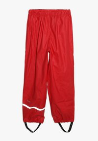 CeLaVi - BASIC RAINWEAR SUIT SOLID - Pantalones impermeables - red - 3