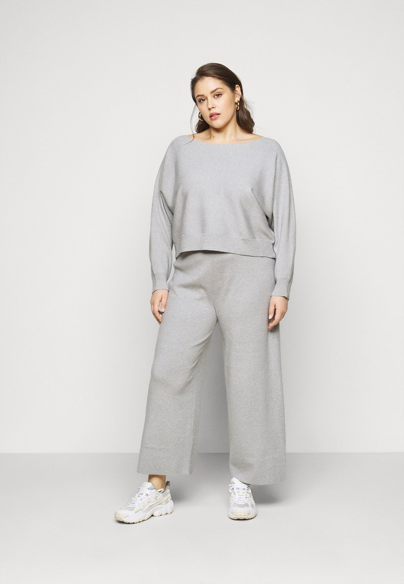 Even&Odd Curvy - SET - Neule - mottled light grey