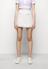 maje - JANESSA - Mini skirt - ecru - 0