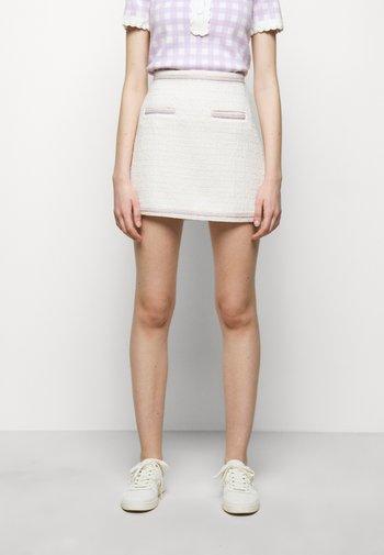 JANESSA - Mini skirt - ecru