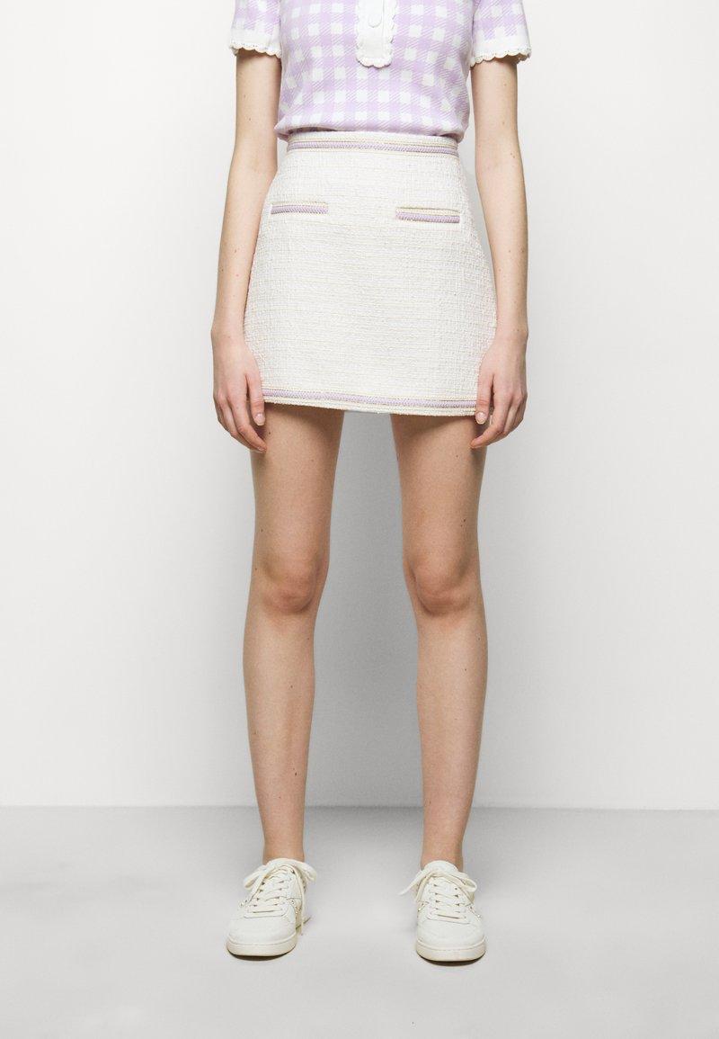 maje - JANESSA - Mini skirt - ecru
