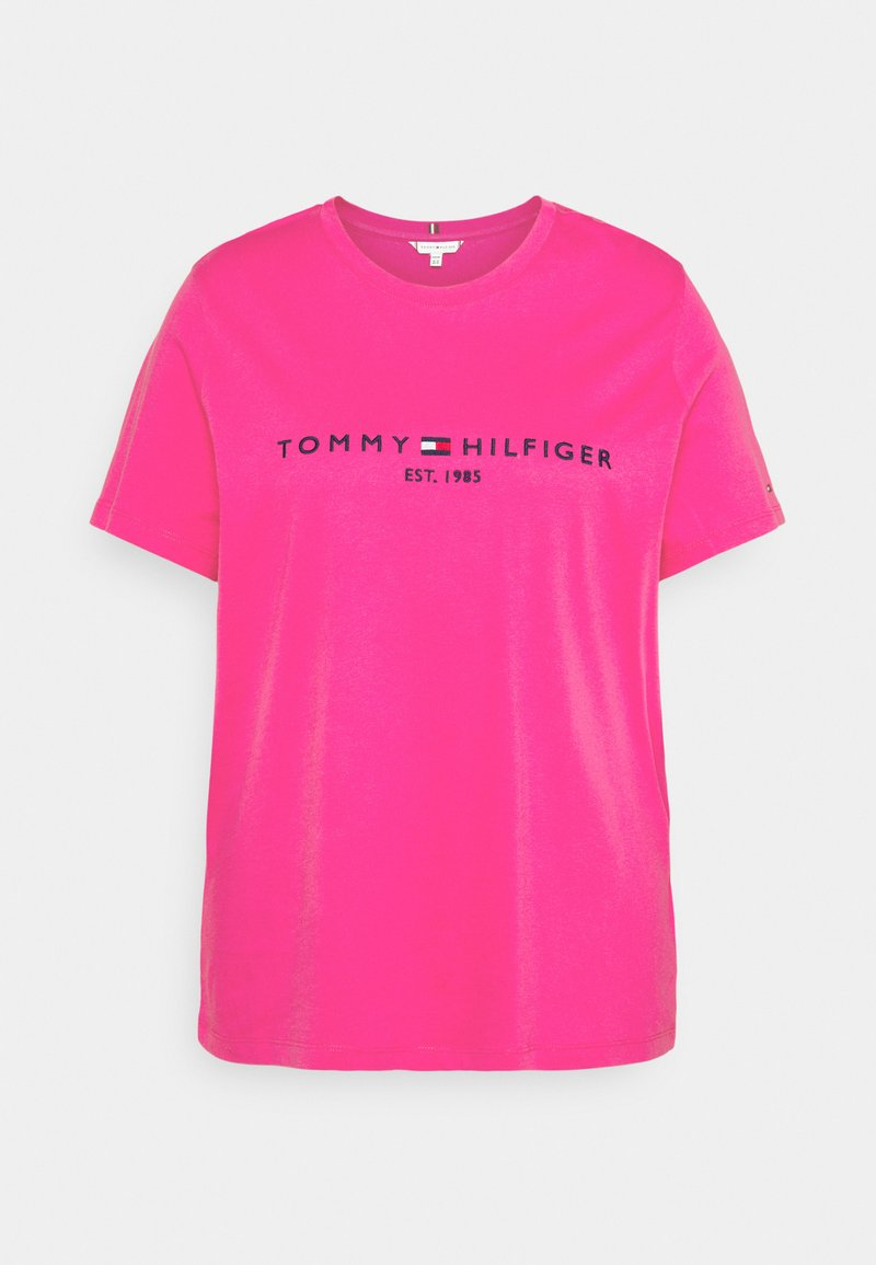 Tommy Hilfiger Curve - REGULAR TEE - Print T-shirt - glacier pink