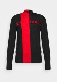 Just Cavalli - Svetr - black/grenadine red - 4