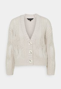 Dorothy Perkins - CABEL V NECK BUTTON FRONT CARDIGAN - Cardigan - grey marl - 3