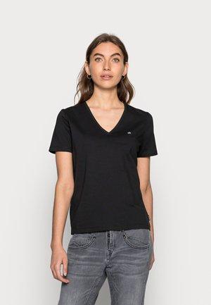 SMALL V NECK  - T-shirt basic - black