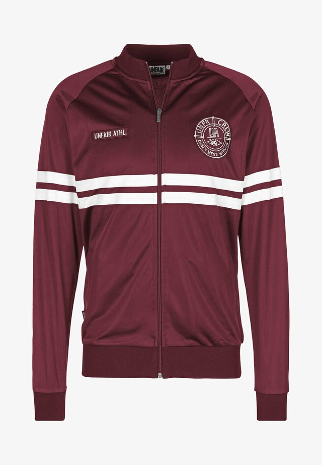 DMWU - Training jacket - maroon/wht