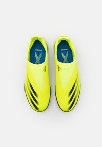 adidas Performance - X GHOSTED.3 LL TF UNISEX - Kopačky na umělý trávník - solar yellow/core black/royal blue - 3
