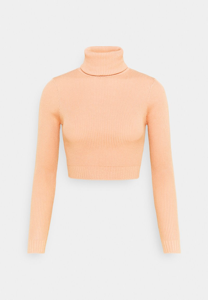 Missguided Petite - ROLL NECK CROP JUMPER - Pullover - sand