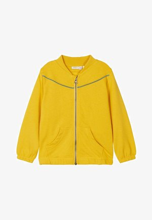 NMFLUKKA - Zip-up hoodie - spicy mustard