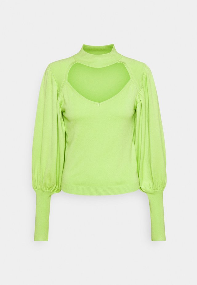 CUT OUT PUFF SLEEVE - Sweter - green