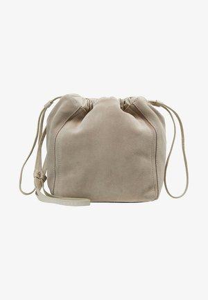 LENA SOFT BUCKET BAG - Across body bag - ligth taupe