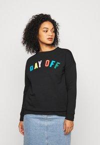 CAPSULE by Simply Be - DAY OFF - Sweatshirt - black - 0