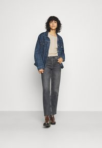 Even&Odd - CROPPED LOOSE CABLE JUMPER - Svetr - sand - 1