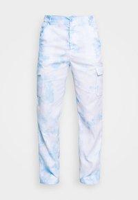 PANT IN TIE DYE UNISEX - Cargo trousers - blue