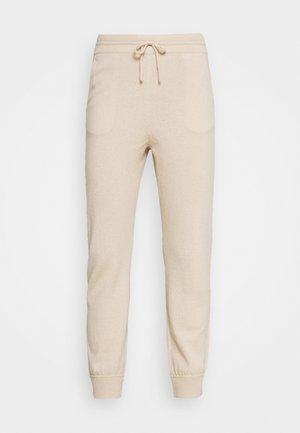 TROUSERS - Teplákové kalhoty - oatmeal