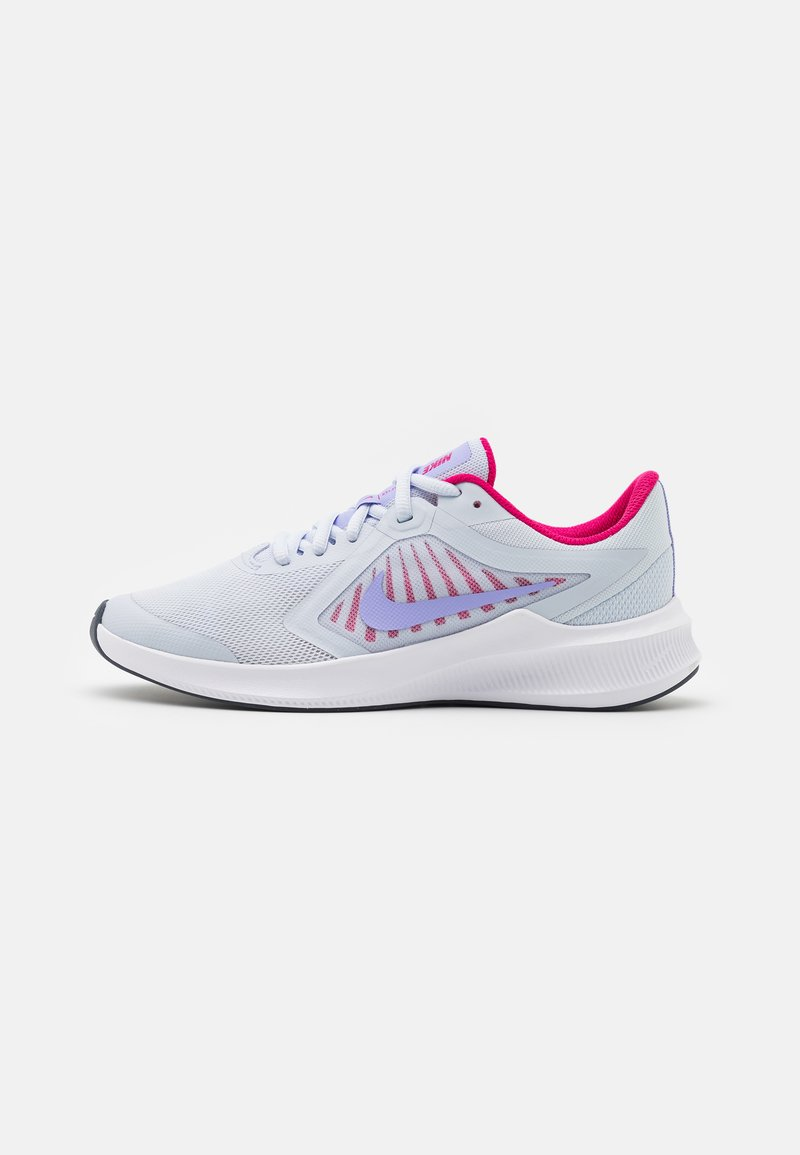 Nike Performance - DOWNSHIFTER - Neutral running shoes - football grey/purple pulse/thunder blue/white
