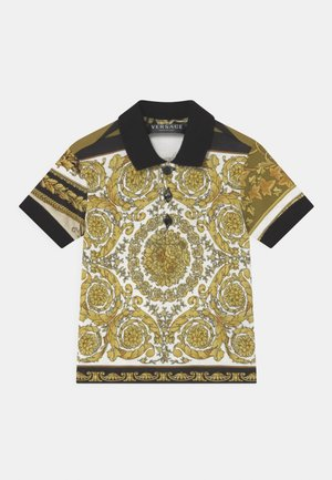 BAROQUE MOSAIC UNISEX - Polo shirt - white/gold/kaki