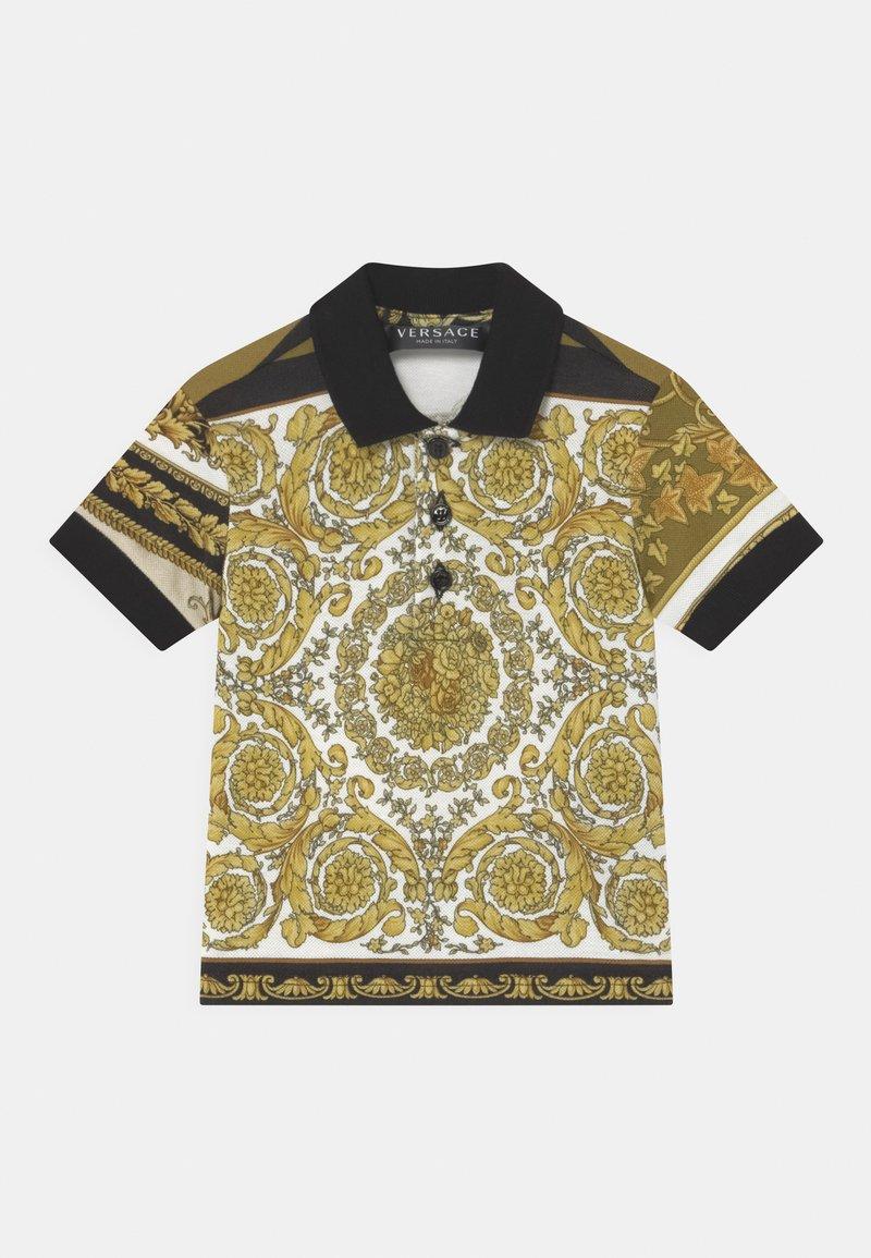 Versace - BAROQUE MOSAIC UNISEX - Polo shirt - white/gold/kaki