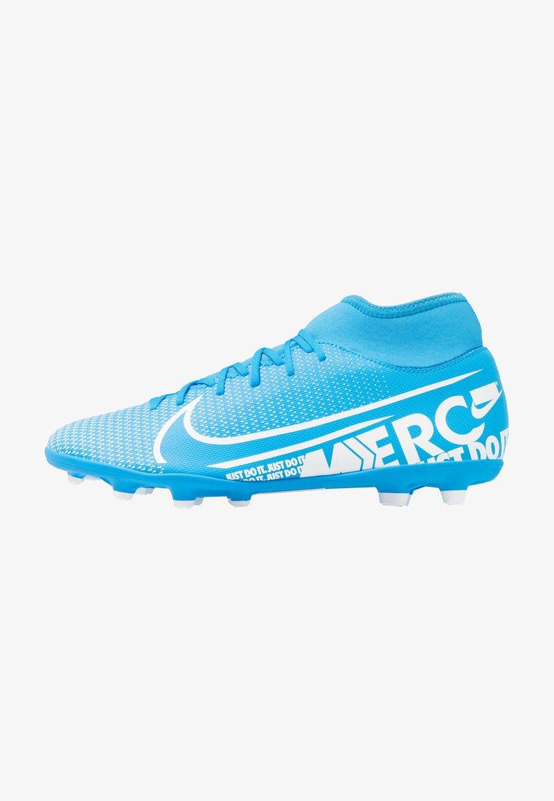 Nike Performance - MERCURIAL 7 CLUB FG/MG - Moulded stud football boots - blue hero/white/obsidian