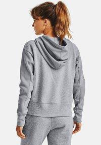 Under Armour - RIVAL - Zip-up hoodie - steel medium heather - 2