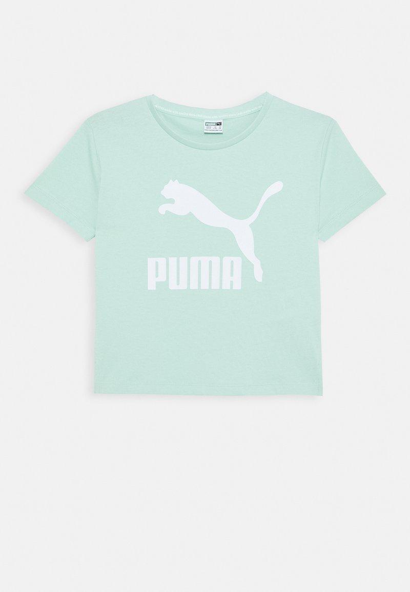 Puma - CLASSICS TEE - Triko spotiskem - mist green