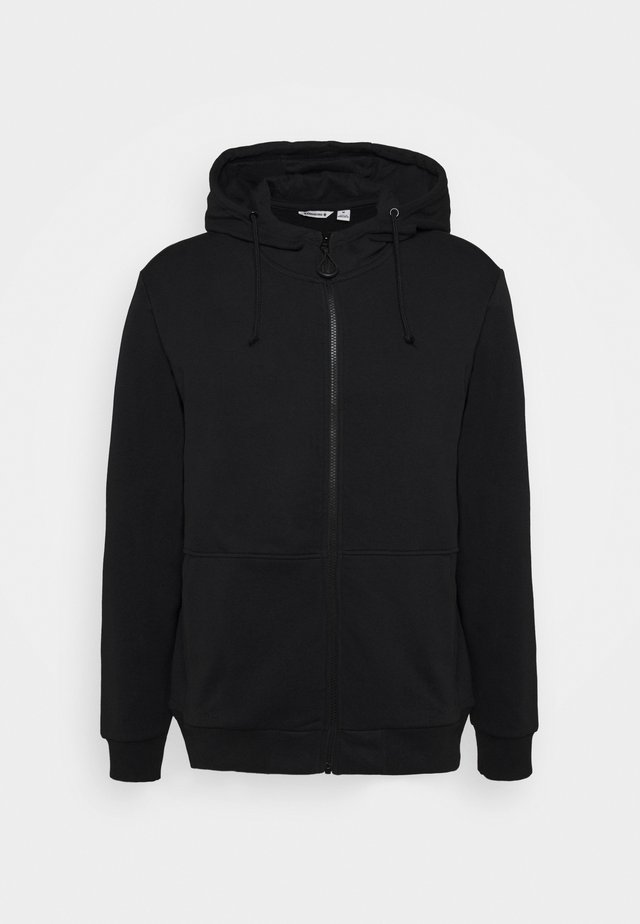 LOGO JACKET - Zip-up hoodie - black beauty