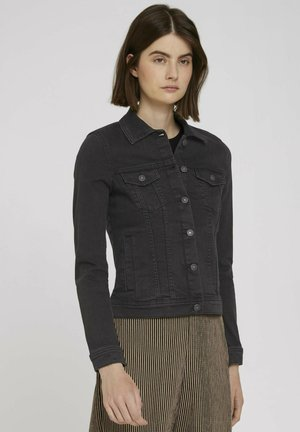 Denim jacket - used dark stone black denim