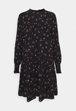 LADIES WOVEN DRESS - Day dress - hazelnuts black
