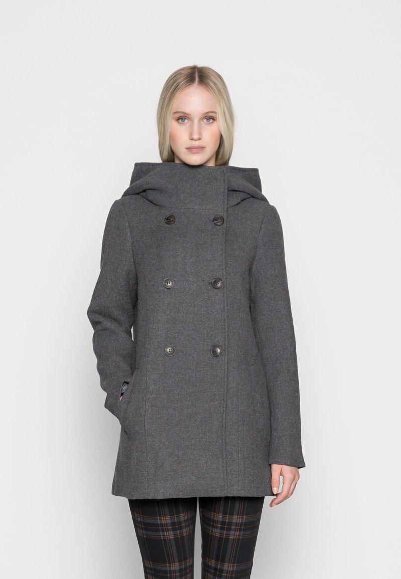 Vero Moda - VMSUNNY BOOS - Klassisk kåpe / frakk - dark grey melange