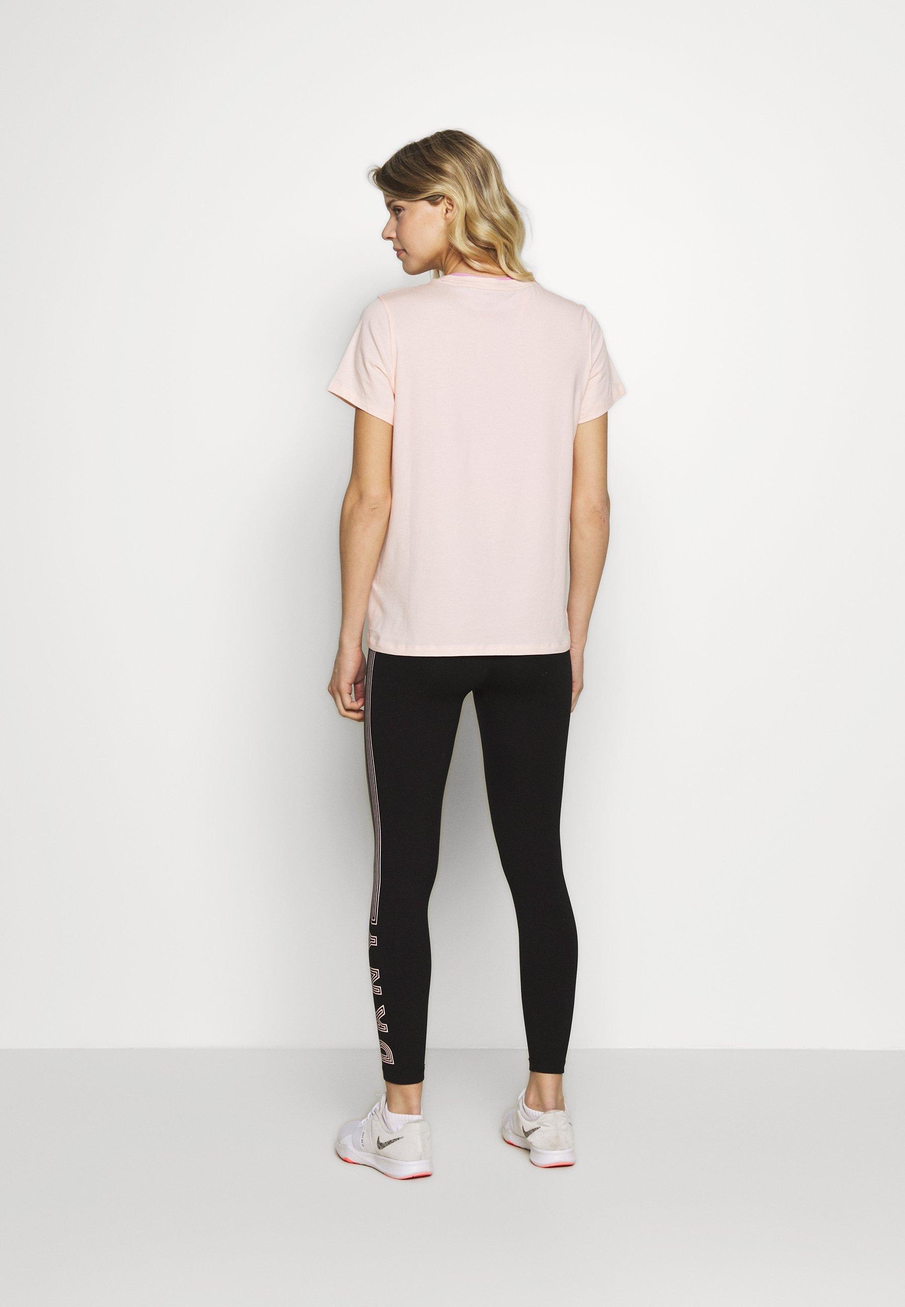 DKNY TRACK LOGO - Print T-shirt - papaya WL53u