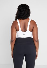adidas Performance - BRA - High support sports bra - white - 2