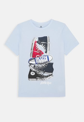 STACKED REMIX TEE - T-shirt con stampa - porpoise