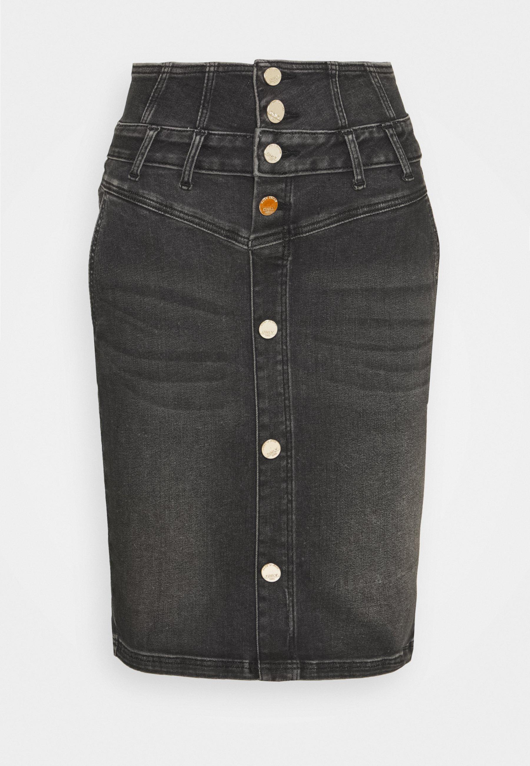 Femme ONLHUSH CORSAGE BUTTON SKIRT - Jupe en jean