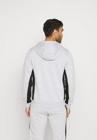 Lacoste Sport - Zip-up hoodie - silver chine/black - 2