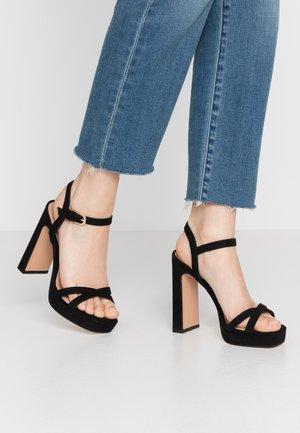 SIENNA PLATFORM - High heeled sandals - black