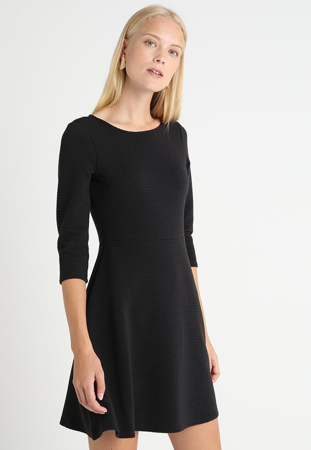SKATER DRESS ROUND - Vestito di maglina - black