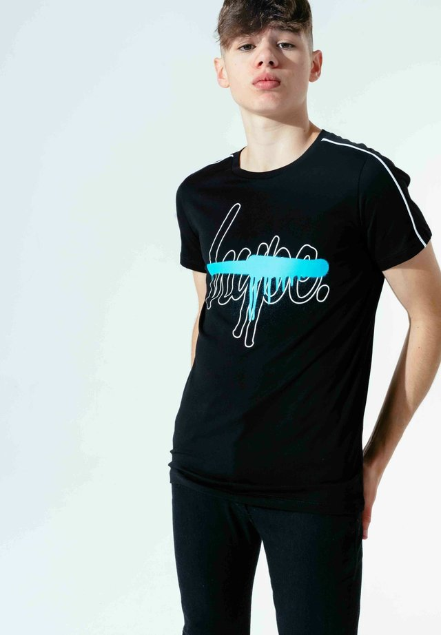 T-SHIRT SCRIPT - T-shirts print - black blue