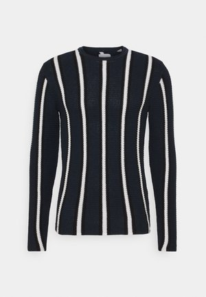ONSSATO STRIPED  - Stickad tröja - dark navy