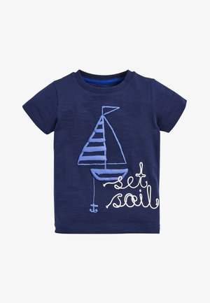 BLUE SET SAIL T-SHIRT AND SHORTS SET (3MTHS-7YRS) - Kraťasy - blue