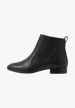 LEATHER CLASSIC ANKLE BOOT - Bottines - black