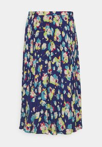 Lauren Ralph Lauren - DRAPEY SKIRT - A-line skirt - blue/multi - 6