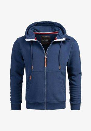 Zip-up sweatshirt - petrolblau