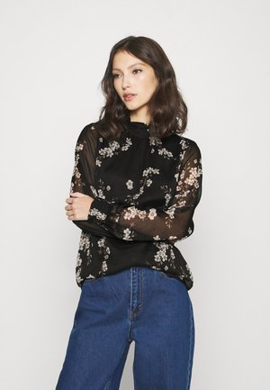 VMTILI HIGH NECK  - Blůza - black/occasion flower